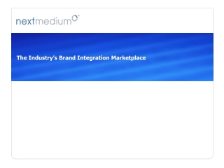 The Industry's Brand Integration Marketplace