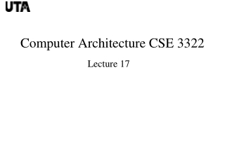 CSE 3322 Computer Architecture Additional Assignments for Chapter 5    Due Mon Oct 25