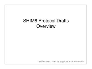 SHIM6 Protocol Drafts Overview