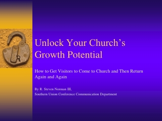 Unlock Your Church's Growth Potential