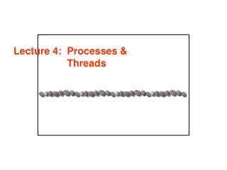 Lecture 4: 	Processes & Threads