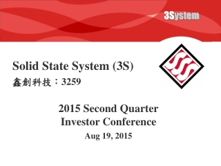 Solid State System (3S)