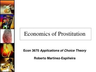Economics of Prostitution