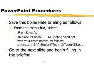 PowerPoint Procedures