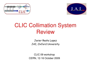 CLIC Collimation System Review