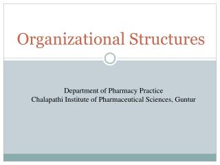 Organizational Structures