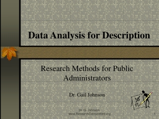 Data Analysis for Description