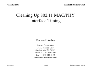 Cleaning Up 802.11 MAC/PHY Interface Timing