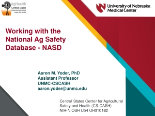 Working with the National Ag Safety Database - NASD