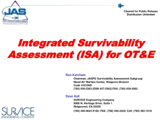 Integrated Survivability Assessment (ISA) for OT&E