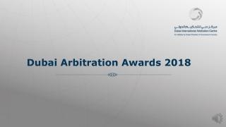 Dubai Arbitration Awards 2018