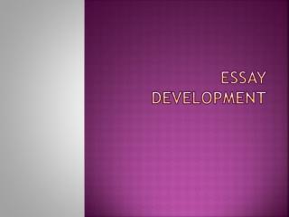 Essay Development