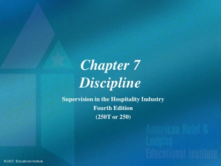 Chapter 7 Discipline