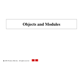 Objects and Modules