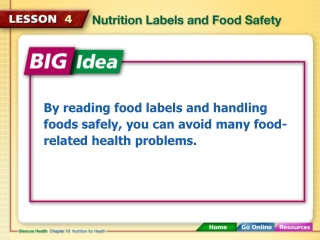 By reading food labels and handling foods safely, you can avoid many food-related health problems.