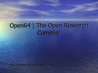 Open64 | The Open Research Compiler