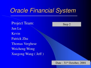 Oracle Financial System
