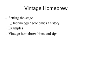 Vintage Homebrew
