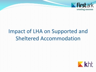 Impact of LHA on Supported and Sheltered Accommodation