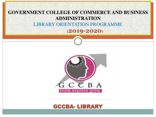 GCCBA- LIBRARY