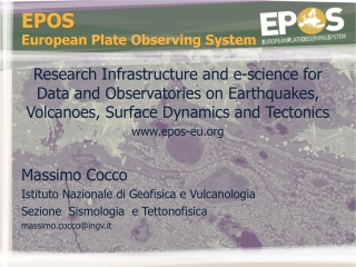 EPOS European Plate Observing System