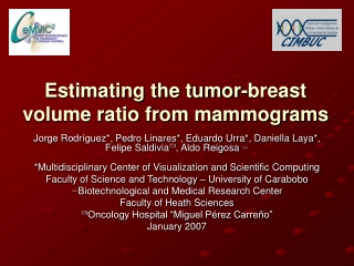 Estimating the tumor-breast volume ratio from mammograms
