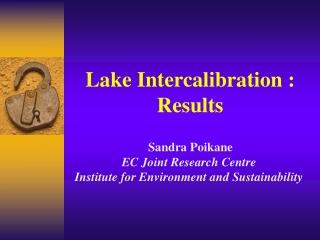 Lake Intercalibration  : Results