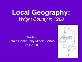 Local Geography: Wright County in 1920