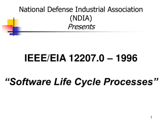 """IEEE/EIA 12207.0 – 1996 """"Software Life Cycle Processes"""""""