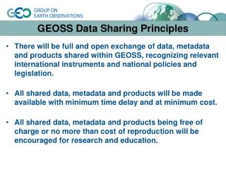 GEOSS Data Sharing Principles