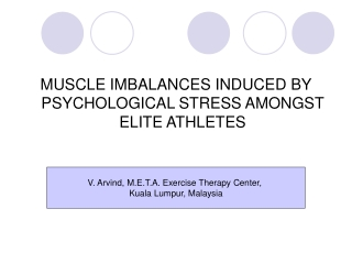 MUSCLE IMBALANCES INDUCED BY PSYCHOLOGICAL STRESS AMONGST ELITE ATHLETES