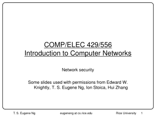 COMP/ELEC 429/556 Introduction to Computer Networks