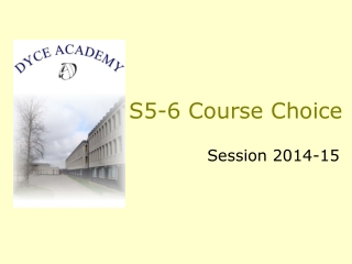 S5-6 Course Choice