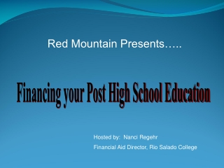 Red Mountain Presents…..