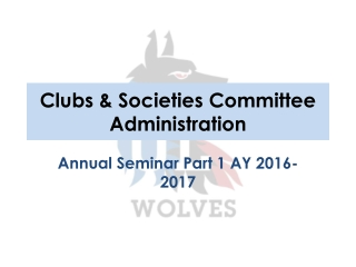 Clubs & Societies Committee Administration