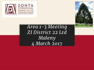 Area 1-3 Meeting ZI District 22 Ltd Maleny 4 March 2017