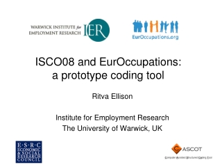 ISCO08 and EurOccupations: a prototype coding tool
