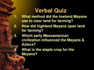 Verbal Quiz