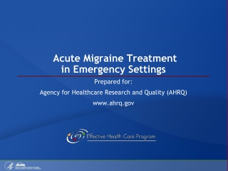 Acute Migraine Treatment in Emergency Settings