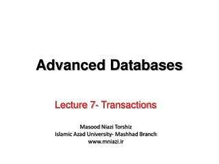 Lecture 7-  Transactions