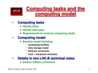 Computing tasks and the computing model