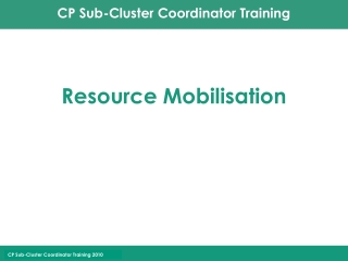 Resource Mobilisation