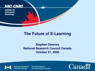 The Future of E-Learning