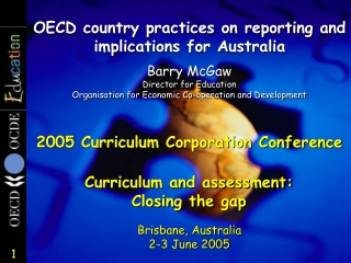 OECD country practices on reporting and implications for Australia