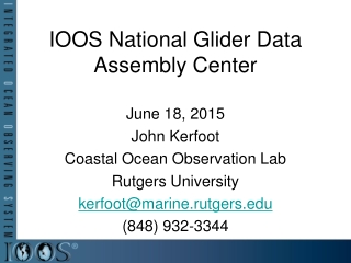 IOOS National Glider Data Assembly Center