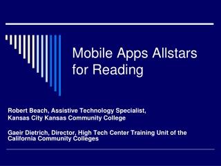Mobile Apps Allstars for Reading