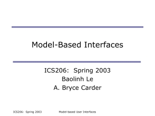 Model-Based Interfaces