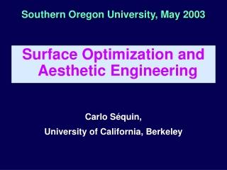 Southern Oregon University, May 2003