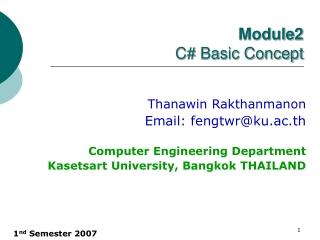 Module 2 C# Basic Concept
