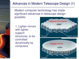 Advances in Modern Telescope Design (1)
